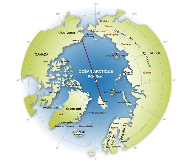 map la voie du pôle 2013