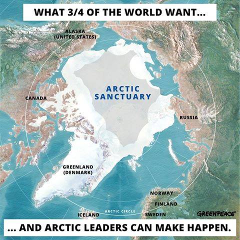 greenpeace save the arctic