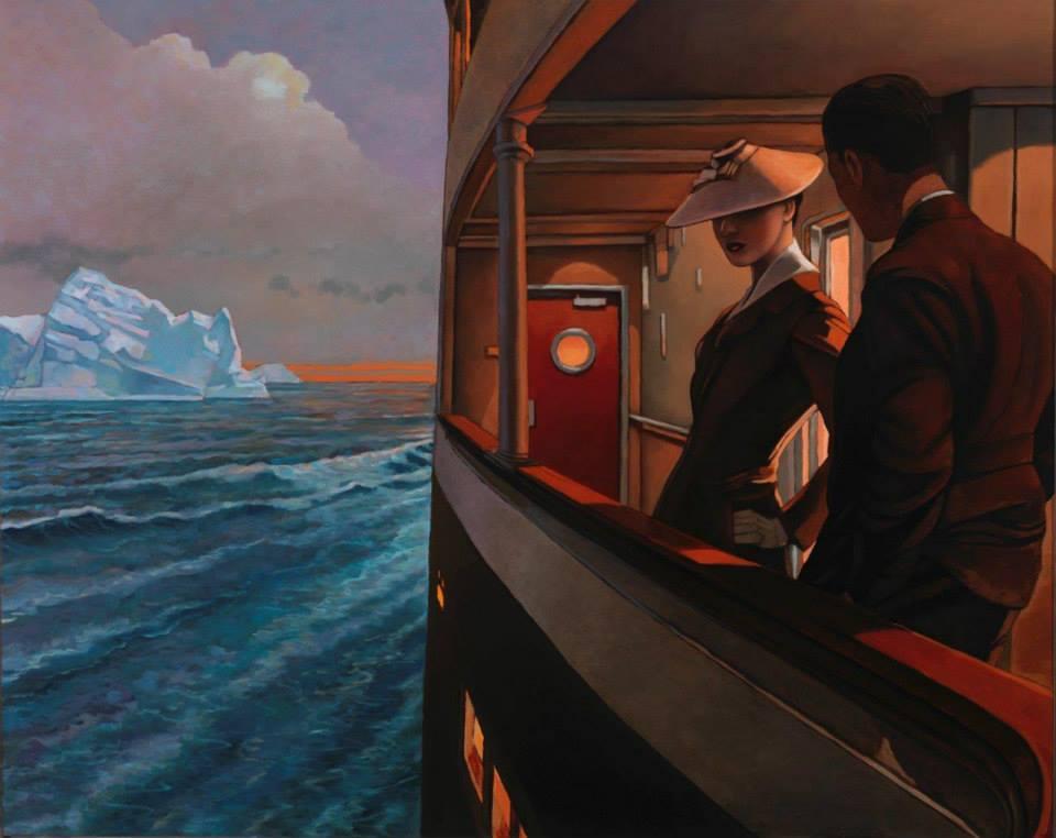 crépuscule arctique - peinture polaire - miles hyman - brafa