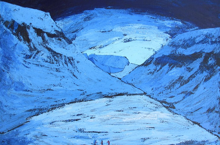 arctic - svalbard - norway - painting - Louise pilditch