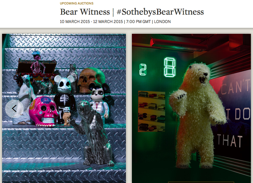 bear witness - sotheby's - sotheby's london - the arctic - grizzly - brown bear - polar bear - arctic ocean - Art - Art auction - Arctic bear exhibition