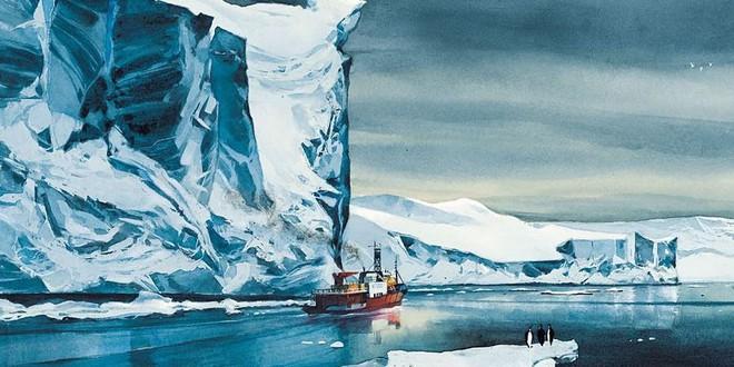 la-lune-est-blanche-lepage-antarctique-pôle sude-iceberg-bande dessinée-BD