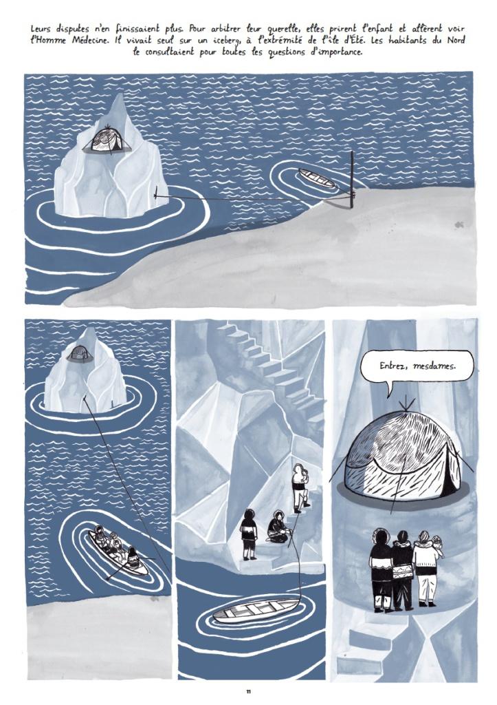 livre - roman graphique - encyclopédie - la glace - le début de la terre - la planète - adam et eve - les pôles -  arctique