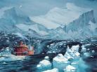 mer antarctique-la lune est blanche-antarctique-iceberg-pôle sud-mission scientifique-BD-france