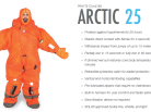 arctic 25, white glacier, arctic 25 survival suit, arctic waters, hypothermia, fishing vessel, cruise ship, coast guard, ice suit survival, navy force