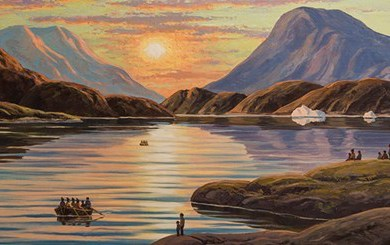 The Greenland of Emmanuel A. Petersen, greenland paintings, peintre danois, peinture du groenla