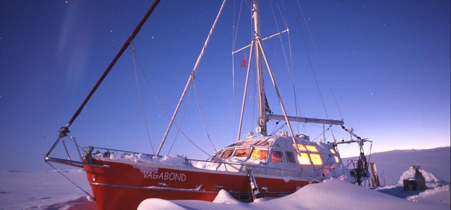vagabond, eric brossier, océan arctique, hivernage en arctique, banquise, fonte de la glace, vie en arctique, voilier en arctique, glaces