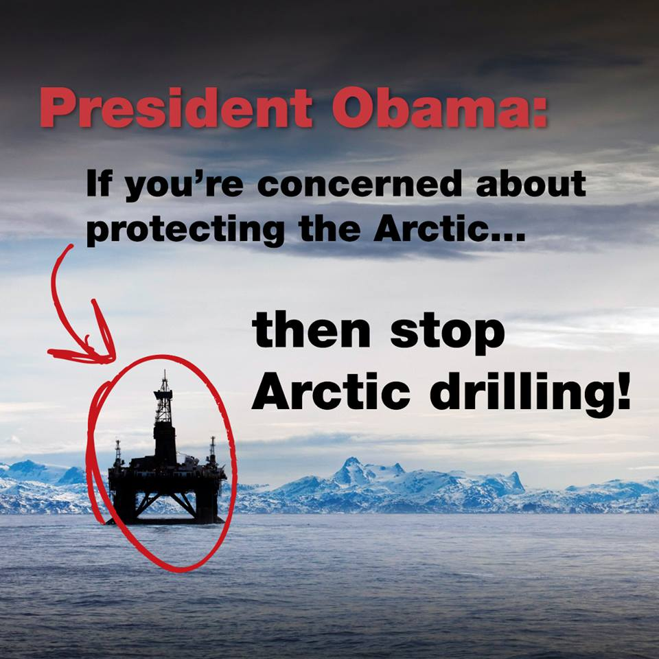 Greenpeace, save the arctic, President Obama, Alaska, USA, arctic 4 ever, shell, oil, arctic wildlife conservation, US President