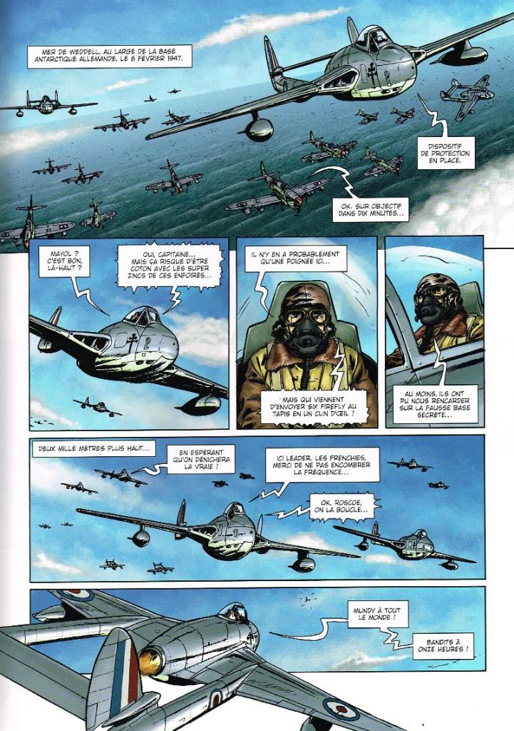 Soleil Productions, Wunderwaffen tome 7 - Amerika Bomber, BD, Antarctique, bande dessinée, cartoon, German, SS, banquise, neige, achtung, avion de guerre, pôle sud