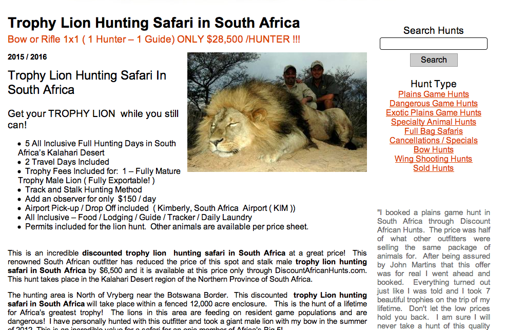 Trophy Lion Hunting Safari in South Africa, hunting safari, discount african hunts, blood lions, nature and wildlife protection, afrique du sud, chasse à l'ours, chasse aux lions, afrique, film blood lions