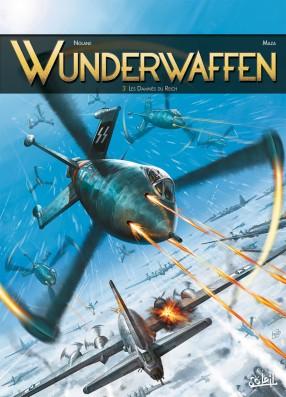Wunderwaffen tome 3 - les damnés du Reich, BD, Antarctique, bande dessinée, cartoon, German, SS, banquise, neige, achtung, avion de guerre,