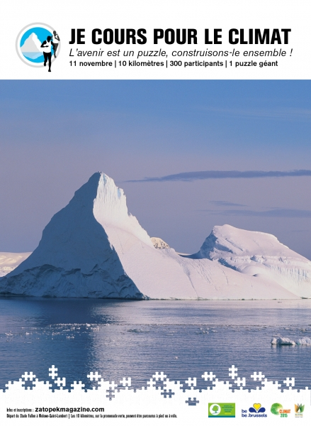 Céline Fremault, Je cours pour le climat, 2015, réchauffement climatique, banquise, ours polaire, inondations, espoir, arctic05, chefs d'etats, conférence sur le climat, climate change, bruxelles, action green