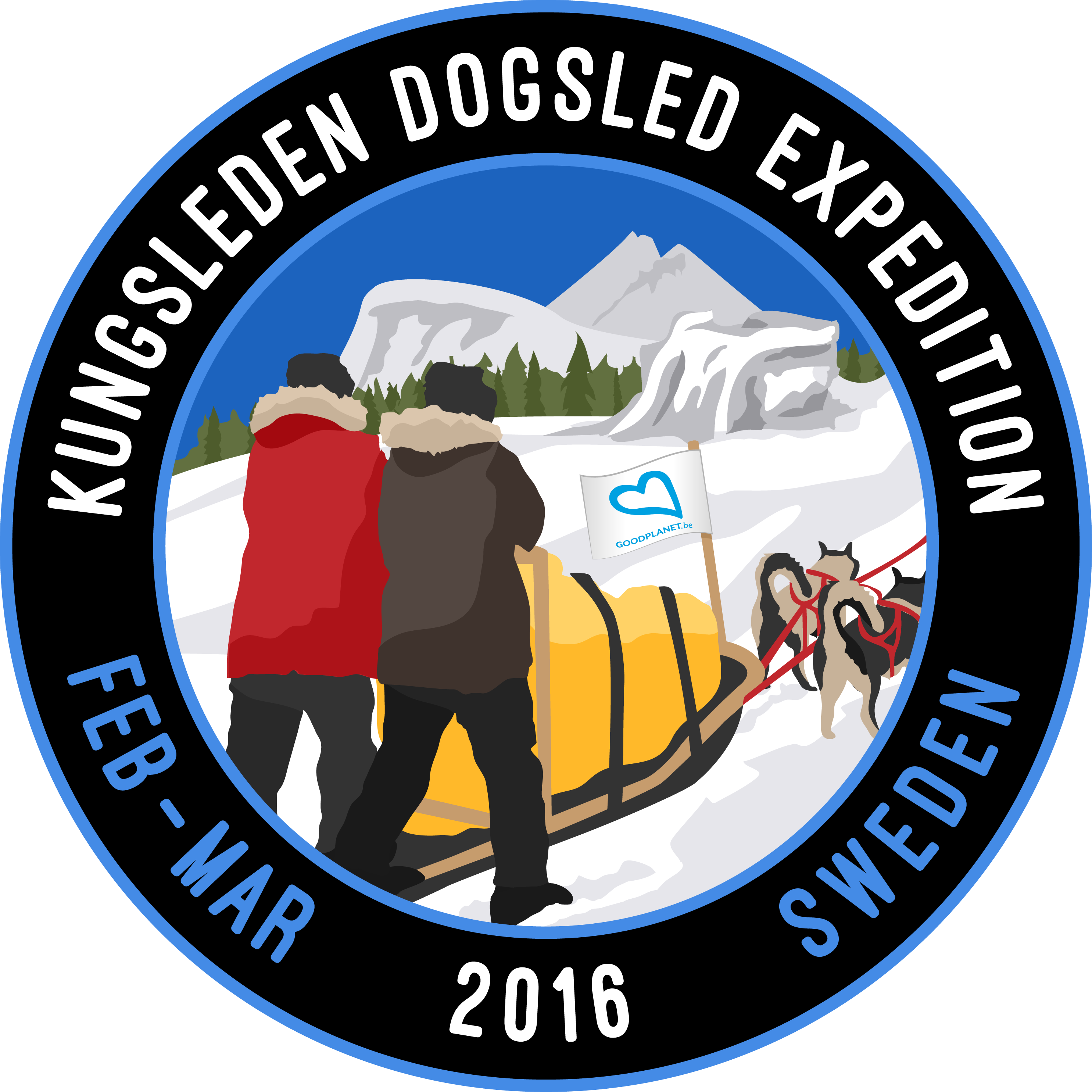 the swedish arctic kungsleden dogsled expedition 2016