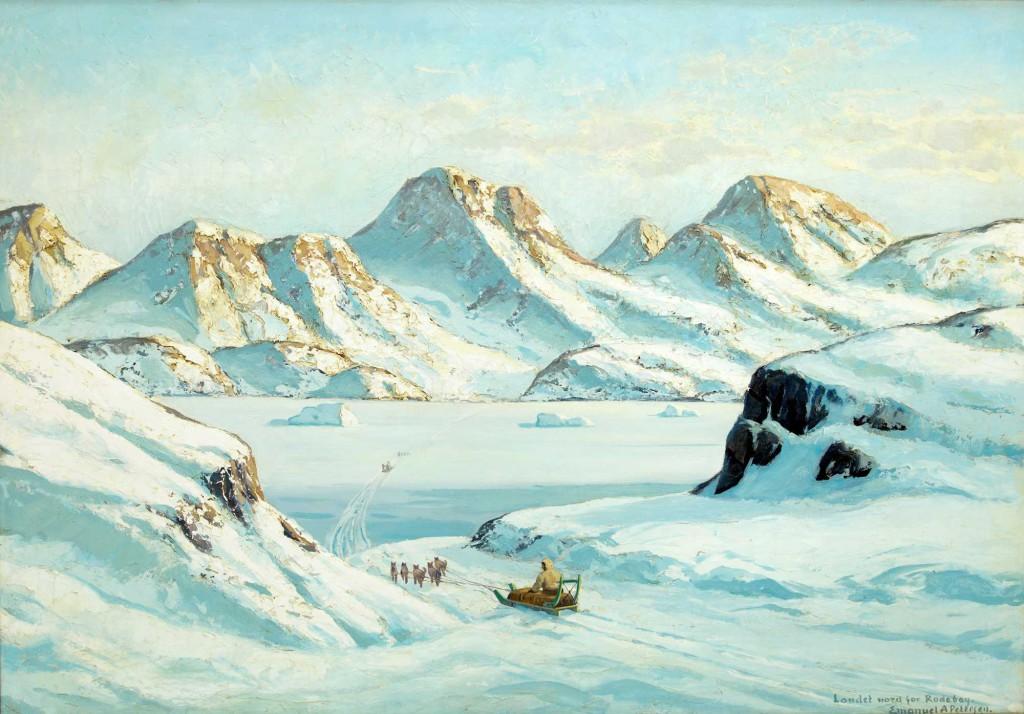 Emmanuel A. Petersen, greenland paintings, arctic05, brafa art fair, brafa bruxelles, peintures du groenland, danish paintings, Inuit, icebergs, grand nord