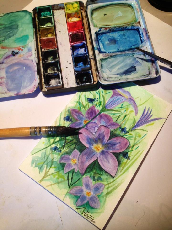 Laurence Plantier, créations de Pimprenelle, fleurs, arctic05, peintre français, Art et peintures, aquarelles, décorations, cadeaux à offrir, biarritz, peinture à l'huile