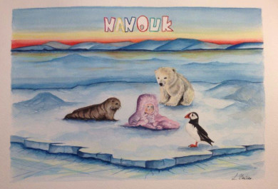 Nanouk, baby girl name, Nanouk Reader, Arctic05, Inuit, girls name, prénom fille, ours polaire, polar bear, we love the arctic, ice, puffin, nature
