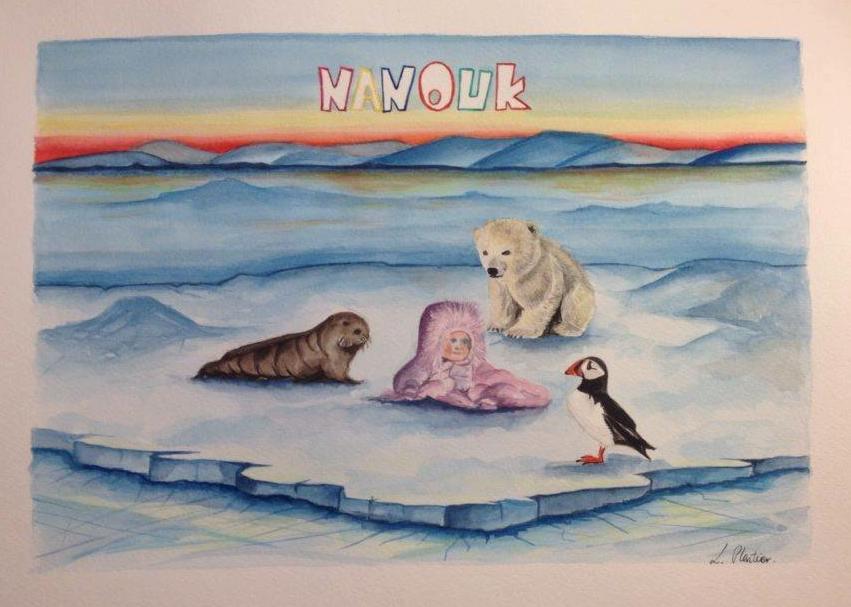 Nanouk, baby girl name, Nanouk Reader, Arctic05, Inuit, girls name, prénom fille, ours polaire, polar bear, we love the arctic, ice, puffin, nature