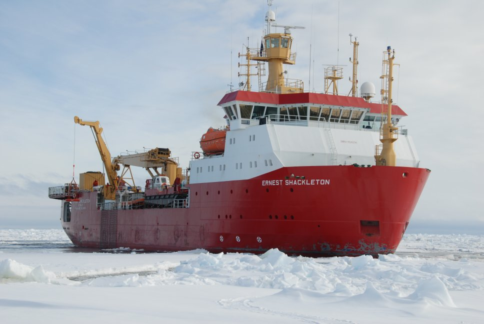 RRS Ernest Shackleton, Antarctic, icebreaker, Polar regions, Northwest Passage, British Antarctic Survey, BAS, UK, Arctic waters, polar science, logistic and research