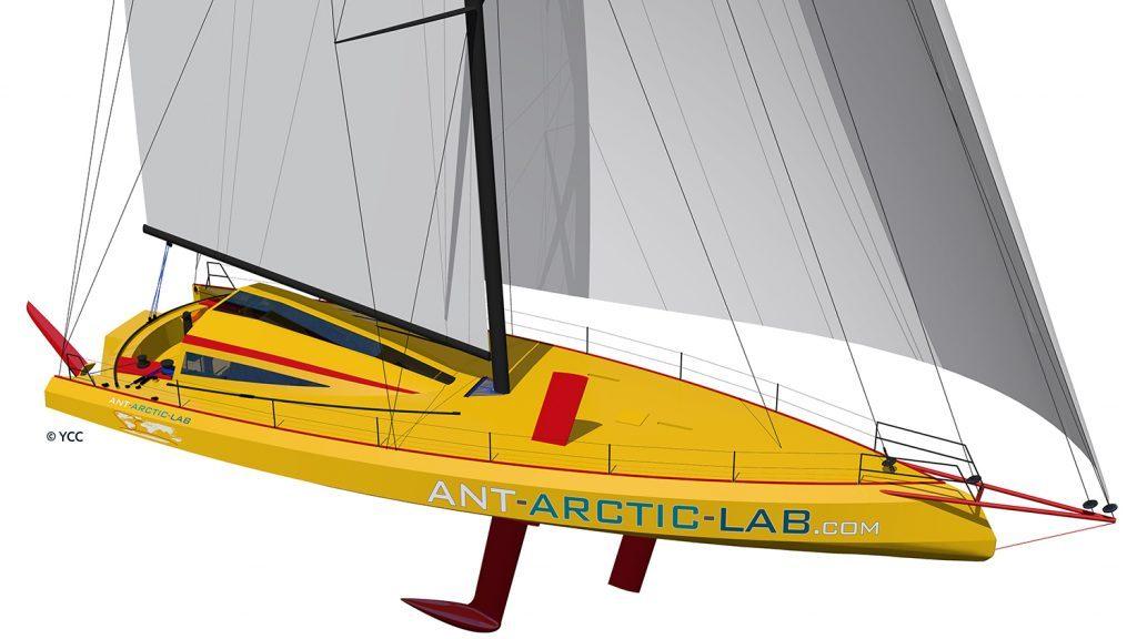 Yacht-Open60-AAL-norbert-sedlacek-ant-arctic-lab-arctic-arctic05 International Polar Organisation-antarctica-voile-skipper-océan-arctique-sailing-antarctique, ours polaire, matériaux recyclables