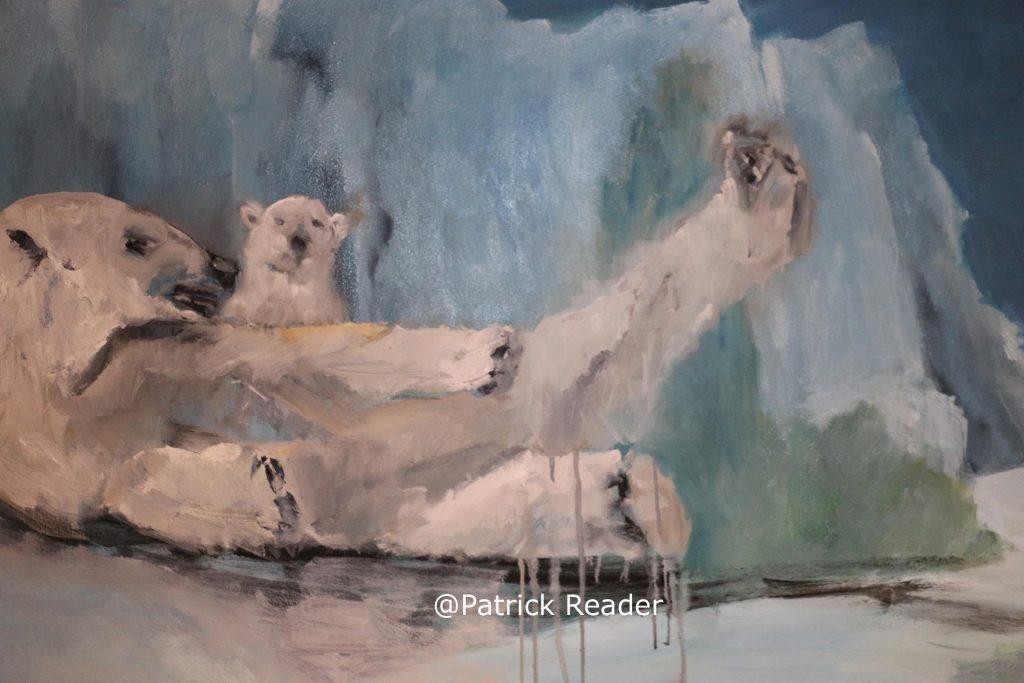 Jacqueline-Pruijsers-de-Bruin-Arctic05, polar-bear-t-Gasthuis-Middelburg-Zeeland-schilderij-painting-of-ice-bear-arctic05-svalbard-Holland-baby-bear-Arctic-animals- picture