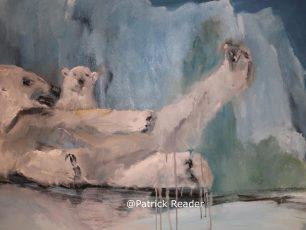 Jacqueline Pruijsers-de Bruin, Ours polaire, polar bear, 't Gasthuis Middelburg, Zeeland, schilderij, painting of ice bear, arctic05, svalbard, Zeeland, Holland, baby bear, Arctic animals
