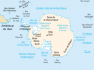 Carte Antarctique, South Pole Map, Mer de Ross, Mer de Weddel, Arctic05, manchot, baleine, krill, paix et science