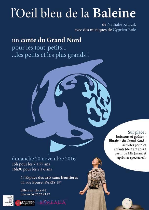 conte pour enfants, un conte du Grand Nord, écoles, l'oeil bleu de la baleine, paris, france, l'Espace des Arts sans frontières