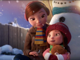 lily and the snowman, friendship, love, cute short film, greetings, arctic05, emotions, snow, christmas, new year celebration