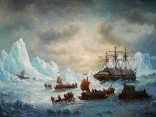 In Search of Sir John Franklin, circa 1850 François-Etienne Musin, Belgian school, 19th century Oil on canvas, Philippe Heim, Arctic05, Brafa 2017