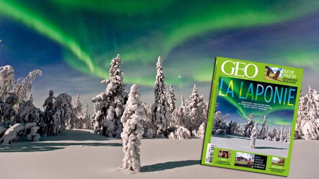 Geo, La Laponie, la beauté arctique, finlande, russie, suède, norvège, magazine GEO, arctic05, aurore boréale, neige, froid, ski, chiens de traineau, grand nord