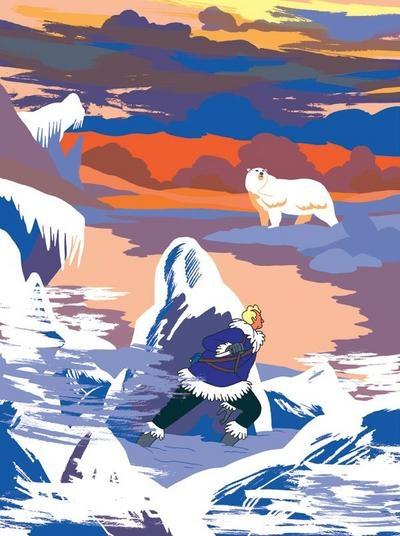 Simon Roussin, le prisonnier des glaces, aviateur, grand nord, bande dessinée, arctic05, tempête, banquise, dessin, ours polaire, BD, lecture, livre, aventure, salon du livre