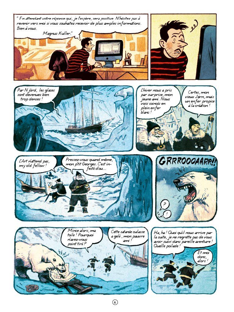 ours polaire, bande dessinée, Hervé Tanquerelle, éditions Casterman, arctic05, foire de la BD, iceberg, fjord, aventure polaire, grand nord, BD