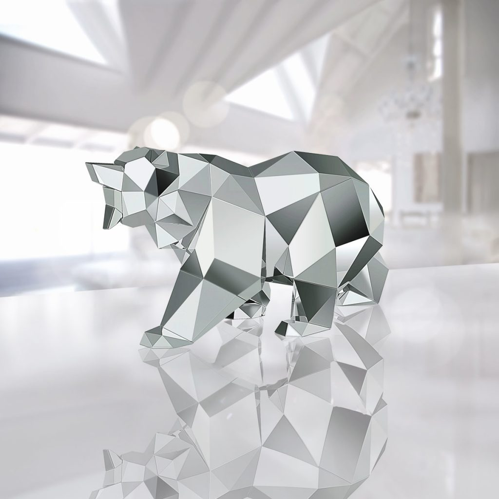Magnificent new crystal bears by swarovski arran gregory for Minimal art gregory battcock
