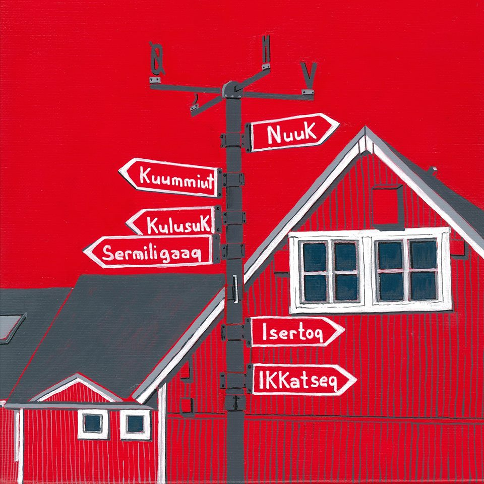 Nathalie Kopp, Nantes, France, Groenland, Tasiilaq, rouge banquise, dessin, photo, peinture polaire, nuuk, kuummiut, kulusuk, maison groenlandaise, Arctic05, expo photo