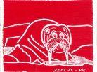 Rouge banquise, Nathalie Kopp, Groenland, morse, exposition polaire, glace, iceberg, pays vert, Arctic05, inuit, eskimaux, Art, artiste polaire, océan arctique, culture arctique