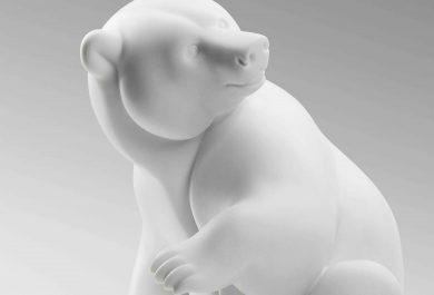 Ours polaire, Brafa, Carrara marble, Michel Bassompière, Paris 1948, Philippe Heim, Art, sculpture, Arctic05, Roi de l'Arctique, BRAFA Art Fair, Belgique, François Pompom Award 2017