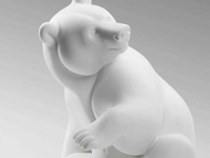 Polar Bear-Brafa-Carrara-marble-Michel-Bassompière-Paris-1948-Philippe-Heim-Art-sculpture-Arctic05-BRAFA-Art-Fair-Belgium-François-Pompom-Award-2017-King of the Arctic