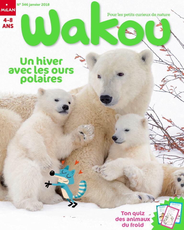 Wakou, magazine kids, Un hiver avec les ours polaires, Milan éditions, Arctic05, ours blanc, grand nord, banquise, enfants, animaux du froid